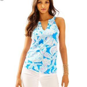 Lilly Pulitzer sleeveless top arya blue s